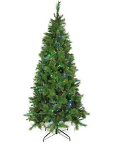 Northlight 7' Green Pine Artificial Christmas Tree with 350 LED Lights with Stand 31752274
