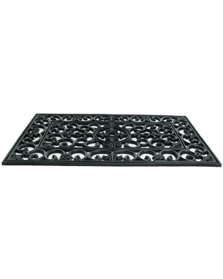 Sales On Imports Decor Wrought Iron Napoleon 30 In X 18 In Vulcanized Rubber Door Mat Black
