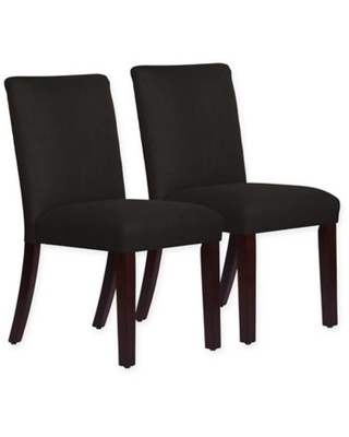 Skyline Furniture Monteagle Dining Chair in Linen Black