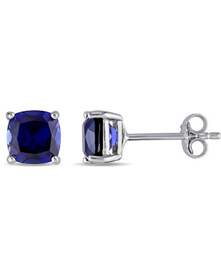 Lab Created Blue Sapphire Sterling Silver 6.1mm Stud Earrings, One Size