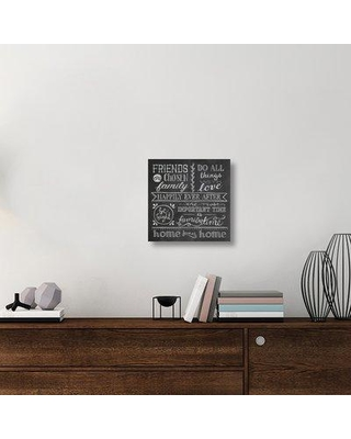 """East Urban Home 'Inspiration Chalkboard IV' Textual Art on Canvas UBAH1495 Size: 18"""" H x 18"""" W x 1.5"""" D"""