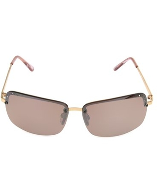 Foster Grant Women's Rose Gold Rectangle Sunglasses F12