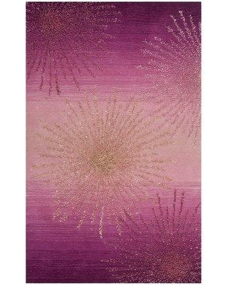Mercer41 Beaufays Hand-Tufted Wool Pink Area Rug MRCR7408 Rug Size: Rectangle 6' x 9'