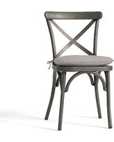 Bistro Chair and Barstool Cushion, Sunbrella(R) Heather Gray