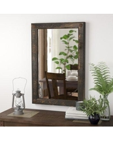 "Loon Peak Febus Creek Accent Mirror LNPK8216 Size: 36"" H x 24"" W x 2"" D, Finish: Black"