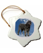 The Best Sales For The Holiday Aisle Bouvier Des Flandres Holiday Shaped Ornament Ceramic Porcelain In Blue Size 3 H X 3 W Wayfair