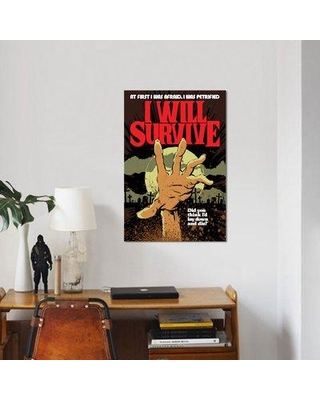 "East Urban Home 'I Will Survive' Graphic Art Print on Canvas ERBR0551 Size: 60"" H x 40"" W x 1.5"" D"