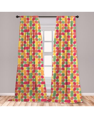Shop Deals For Fall Room Darkening Rod Pocket Curtain Panels East Urban Home Size Per Panel 28 X 95