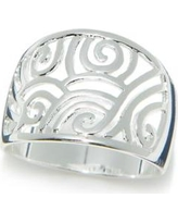 New Directions Silver Silver-Tone Filigree Ring