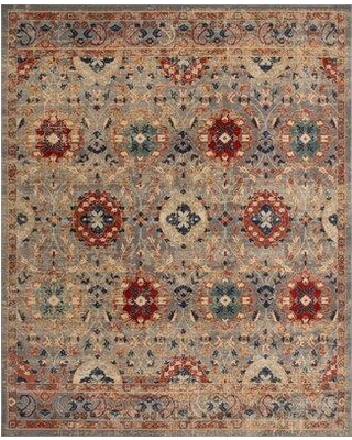 """Charlton Home Cuthbertson Beige/Red Area Rug W001546689 Rug Size: Runner 2'7"""" x 10'6"""""""
