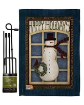 Discover Deals On Snowman Golf Winter Wonderland Impressions 2 Sided Burlap 19 X 13 In Garden Flag Breeze Decor