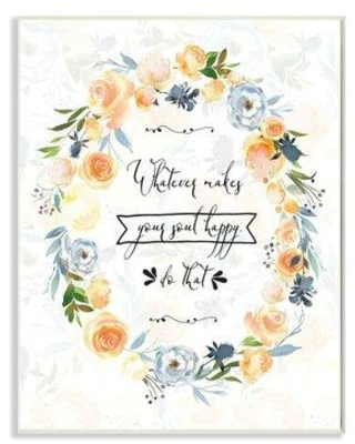 """Gracie Oaks Whatever Makes Your Soul Happy Panoramic Graphic Art Print Set on Canvas W002494487 Format: Brown Framed Size: 18"""" H x 12"""" W x 0.5"""" D"""