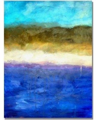 Bay Isle Home 'Abstract Dunes' Painting Print on Canvas W001304869 Size: 24'' H x 18'' W x 2'' D
