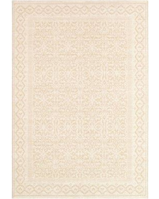 "August Grove Somme Champagne Rug Rug Size: Rectangle 3'11"" x 5'6"""