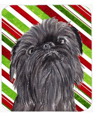 The Holiday Aisle Brussels Griffon Candy Cane Christmas Glass Cutting Board THLA3801