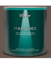 New Deal For Behr Marquee 1 Qt Ppu5 20 Sweet Molasses Semi Gloss Enamel Interior Paint Primer