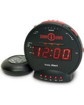 Sonic Alert Sonic Bomb Alarm Clock with Flashing Lights SBB500ss