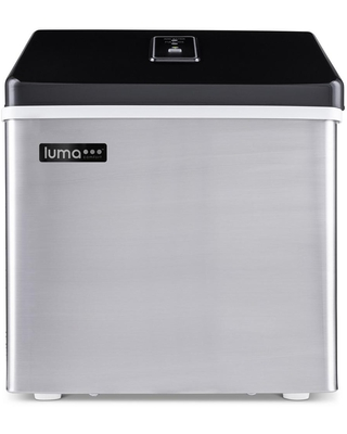 Luma Comfort Portable 28 lb. of Ice a Day Countertop Clear Ice Maker BPA Free Parts Perfect for Cocktails and Soda - Stainless Steel, Silver