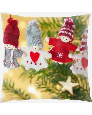 The Holiday Aisle Neriah Christmas Indoor/Outdoor Canvas Throw Pillow W000680658