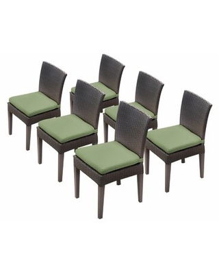Tegan Patio Dining Chair with Cushion Sol 72 Outdoor™ Cushion Color: Cilantro