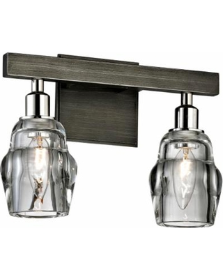 """Citizen 9"""" High Graphite and Nickel 2-Light Wall Sconce"""