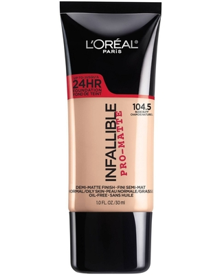 L'Oreal Paris Infallible Pro-Matte Foundation 104.5 Nude Buff - 1 fl oz