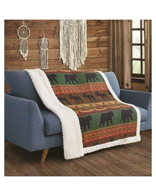 Millwood Pines Bear and Moose Lodge Throw X113691763