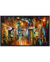 """Winston Porter 'Old City Street' Framed Oil Painting Print on Wrapped Canvas BF022916 Size: 31.5"""" H x 51.5"""" W x 2"""" D"""