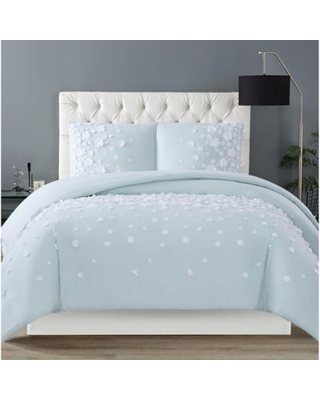 Christian Siriano NY® Confetti Flowers 3-Piece Full/Queen Duvet Cover Set in Mint