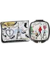 August Grove 2 Piece French Accents Compact Mirror Set AGGR5058