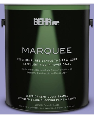 BEHR MARQUEE 1 gal. #630B-5 Majestic Violet Semi-Gloss Enamel Exterior Paint and Primer in One