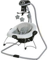 Graco DuetConnect LX Multi-Direction Baby Swing and Bouncer - Asher