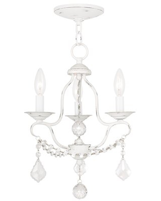 Bayfront 3 - Light Candle Style Classic Chandelier with Crystal Accents