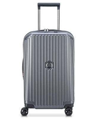 DELSEY Paris Securitime Expandable Luggage with Spinner Wheels, Anthracite Gray, Carry-On 19 Inch