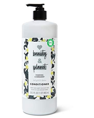 Love Beauty And Planet Delightful Detox Cleansing Conditioner for Cleansed Hair Charcoal & Bergamot Paraben-Free, Vegan, and Silicone-Free Conditioner 32.3 oz