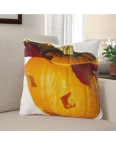 Savings On The Holiday Aisle Newbold Pumpkin Indoor Outdoor Throw Pillow Polyester Polyfill Polyester Polyester Blend In Orange Size 18x18 Wayfair