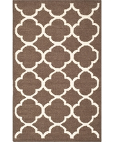 Safavieh York Dhurrie Accent Rug - Brown / Ivory (2'6 X 4')