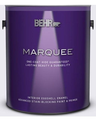 BEHR MARQUEE 1 gal. #650E-1 Lace Cap Eggshell Enamel Interior Paint and Primer in One