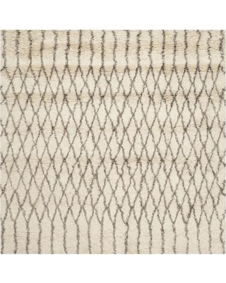 Mercury Row Gholston Hand-Tufted Cotton/Wool Ivory/Gray Area Rug MROW8586 Rug Size: Square 6'