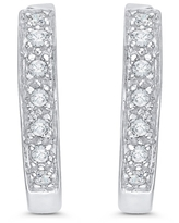 14k White Gold 1/4ct TDW Diamond Hoop Earrings (I-J, I1)
