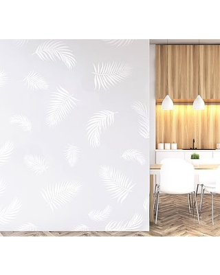 Palm Fronds Wall Decal, White