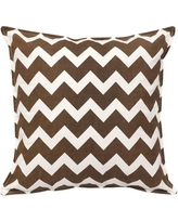 Greendale Home Fashions Chevron Cotton Canvas Throw Pillow TP5213- Color: Brown