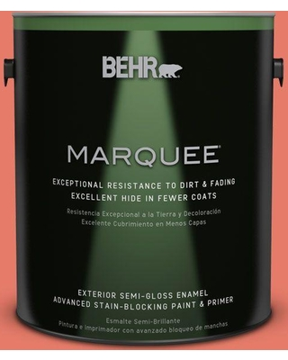 BEHR MARQUEE 1 gal. #P180-5 Watermelon Slice Semi-Gloss Enamel Exterior Paint and Primer in One