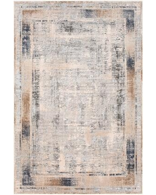 """Alpine ALP-2300 5'3"""" x 7'3"""" Rectangle Traditional Rug in Ivory Medium Grey Charcoal"""
