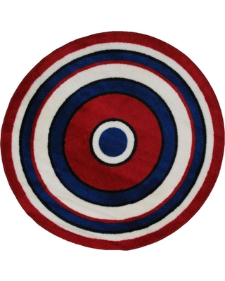 Special Prices On La Rug Fun Time Shape Concentric 2 4 Ft Round