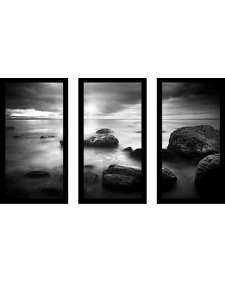 """Picture Perfect International """"Beyond The Sea"""" 3 Piece Framed Photographic Print Set 704-2308-1224 / 704-2308-1632 Size: 33.5"""" H x 52.5"""" W x 1"""" D"""