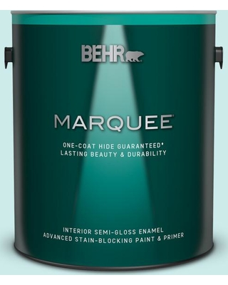 BEHR MARQUEE 1 gal. #500C-3 Spa Semi-Gloss Enamel Interior Paint and Primer in One