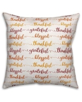 The Holiday Aisle Leandro Grateful Thankful Blessed Throw Pillow BI204387