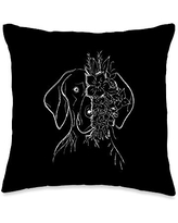 Shorthaired Terriers GSP Gift German Shorthair Pointer   GSP MOM   Gift Mother Women Throw Pillow, 16x16, Multicolor