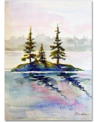 "Trademark Art 'Little Island' by Wendra Painting Print on Wrapped Canvas WL038-C Size: 47"" H x 35"" W x 2"" D"